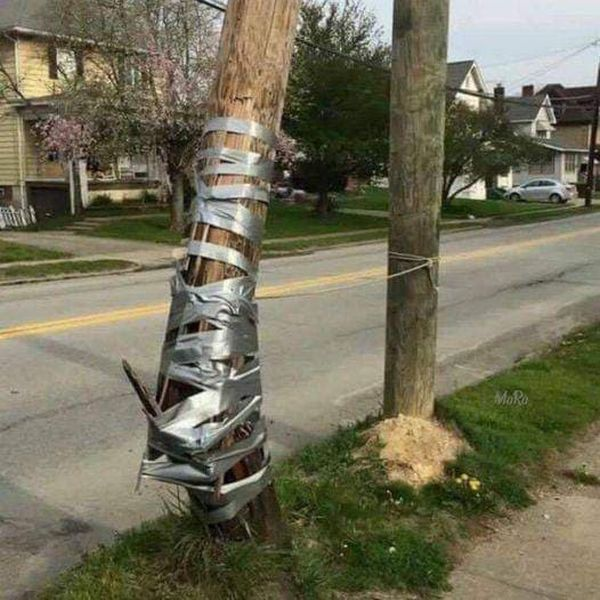Funny Duct Tape Fixes Anything Pole