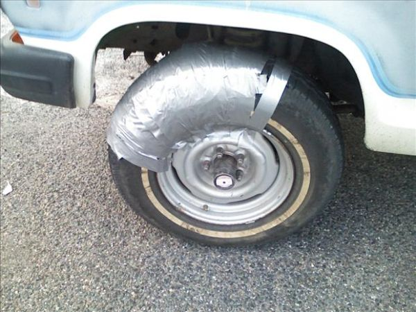 Funny Duct Tape Fixes Anything tire