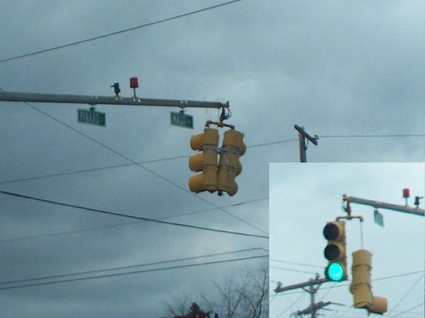 Funny Duct Tape Fixes Anything traffic light