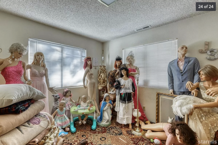 Bad real estate listing photos creepy mannequin