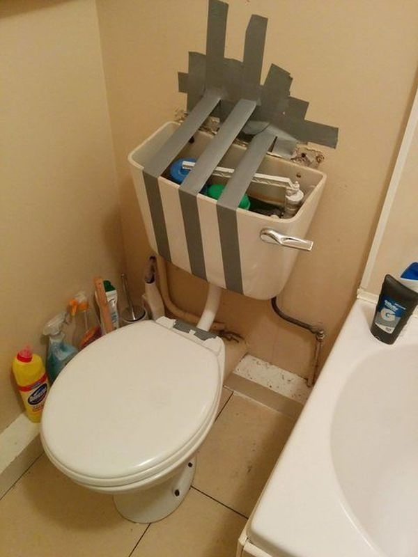 Funny Duct Tape Fixes Anything toilet