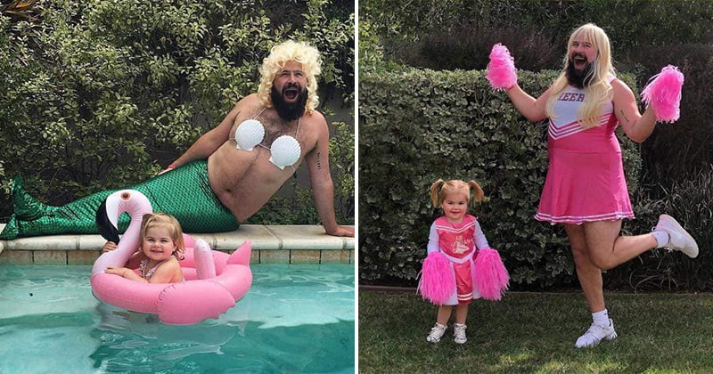 Dad Takes Funny Photos With Baby Daughter In Costumes