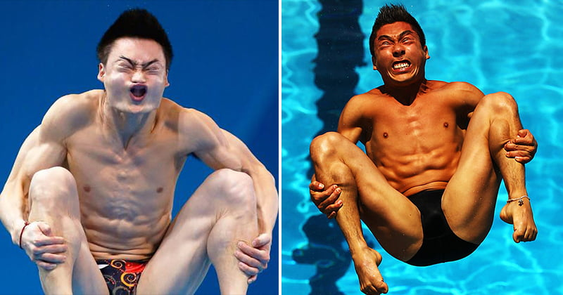 The Funny Faces Of Olympic Divers
