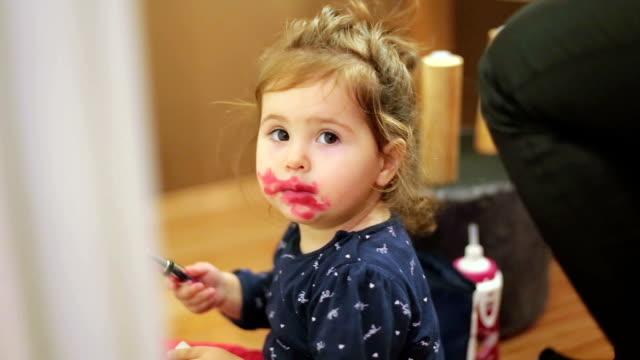 Hilarious children makeup mess