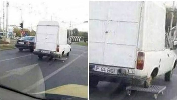 funny things spotted in traffic wheel replacement fail