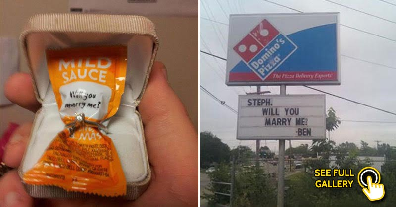 Creative marriage proposal