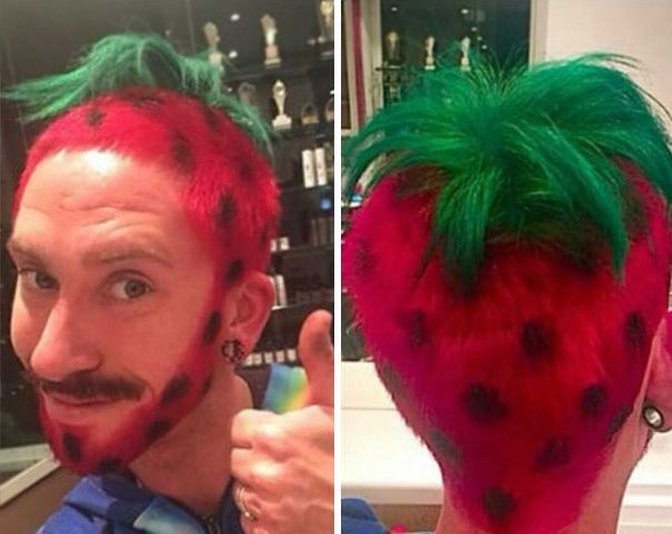 funny hairstyle fail strawberry