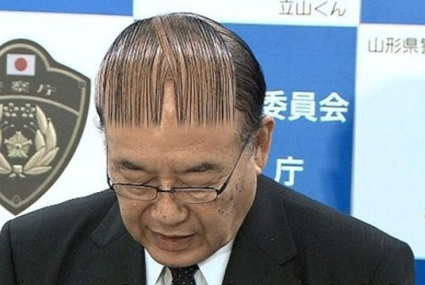 funny hairstyle fail barcode