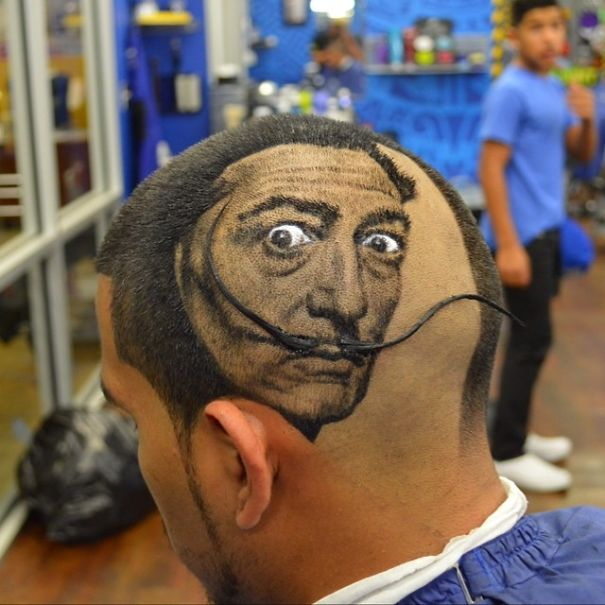 funny hairstyle fail salvador dali