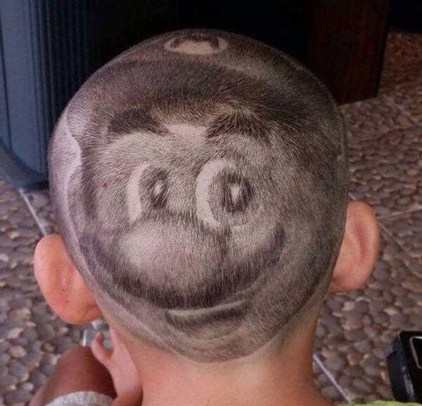 funny hairstyle fail mario