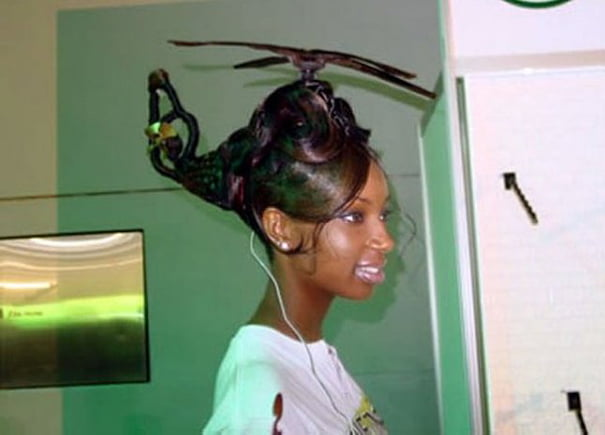 funny hairstyle fail helicopter