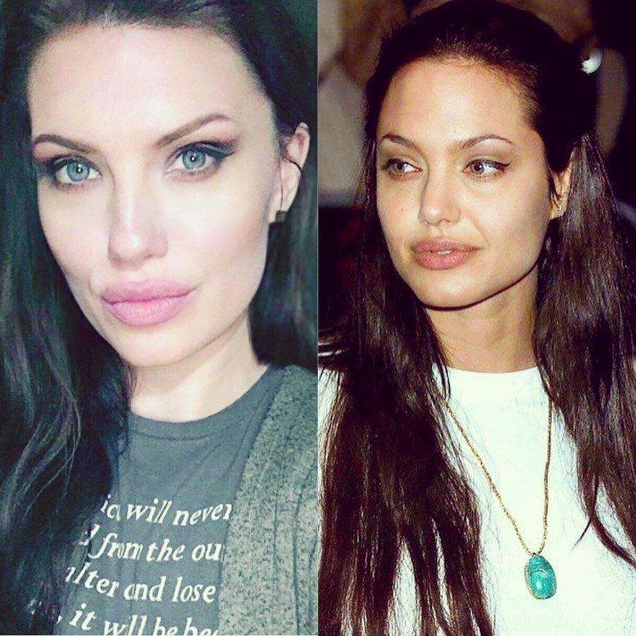 celebrity doppelgangers famous lookalike Angelina Jolie