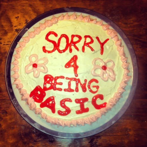 funny apology cake sorry for being basic