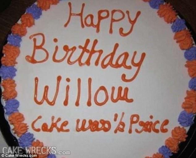 funny birthday cake fail