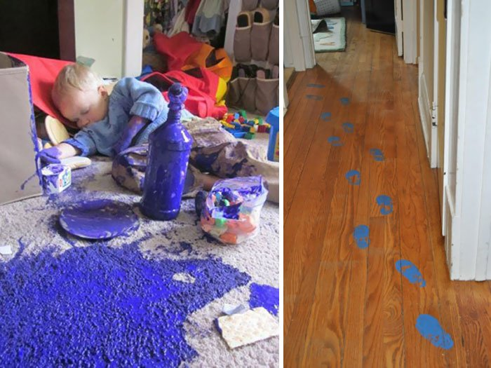 funny mess when you leave the children alone