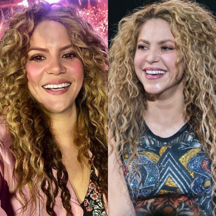 celebrity doppelgangers famous lookalike Shakira