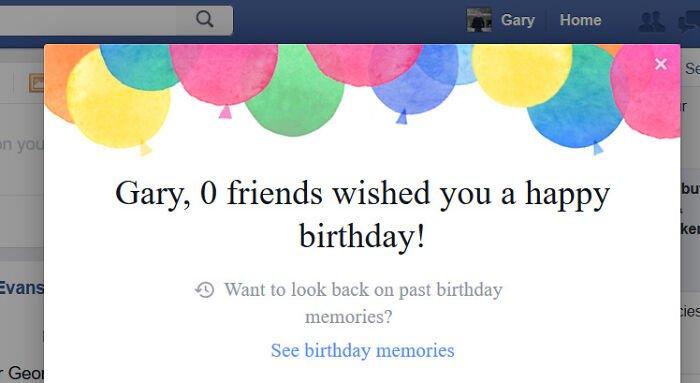 funny birthday facebook fail