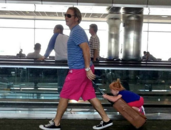 funny airport people