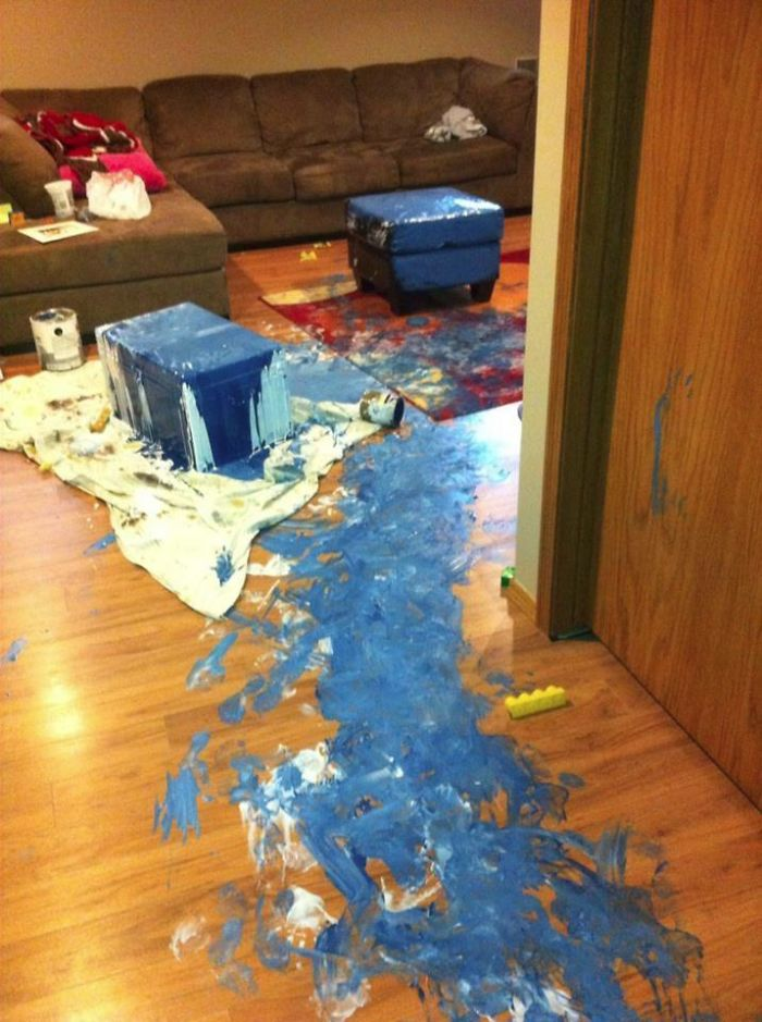 funny mess when you leave the children alonefunny mess when you leave the children alone