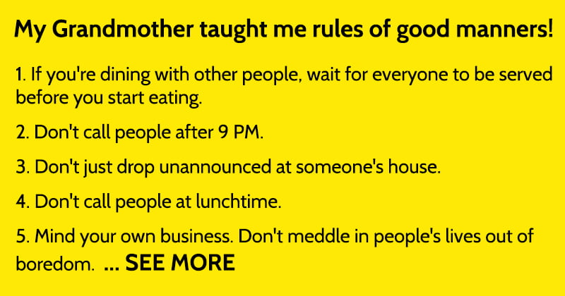 Basic Manners And Social Etiquette Rules People Often Lack