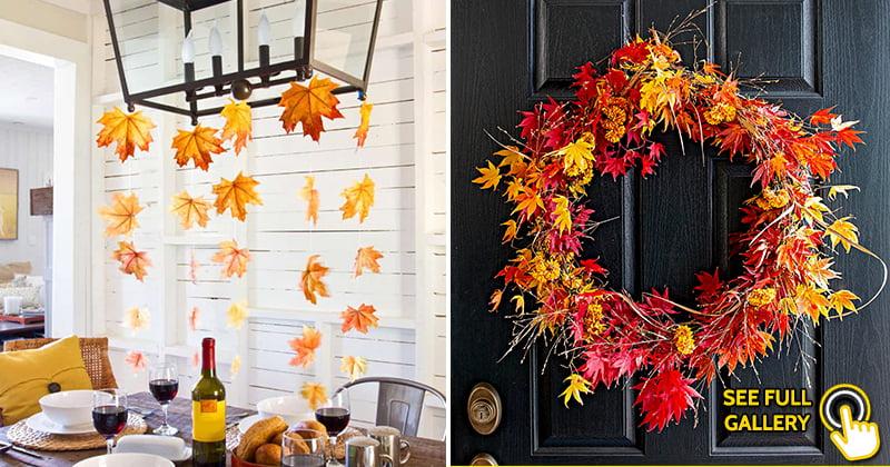 creative easy DIY autumn house decor ideas